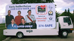 Defibrillation Truck Mounted Billboard